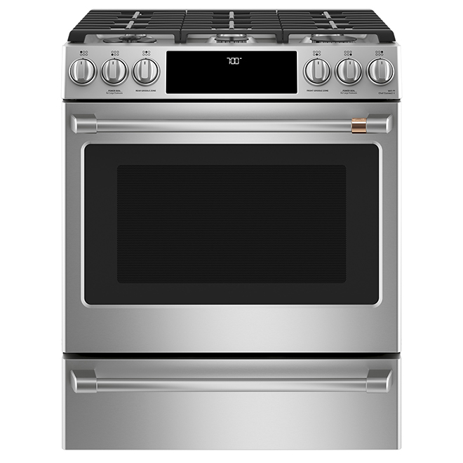 "Café(TM) Gas Range - Built-In - 30"" - 5.6 cu. ft. - SS"