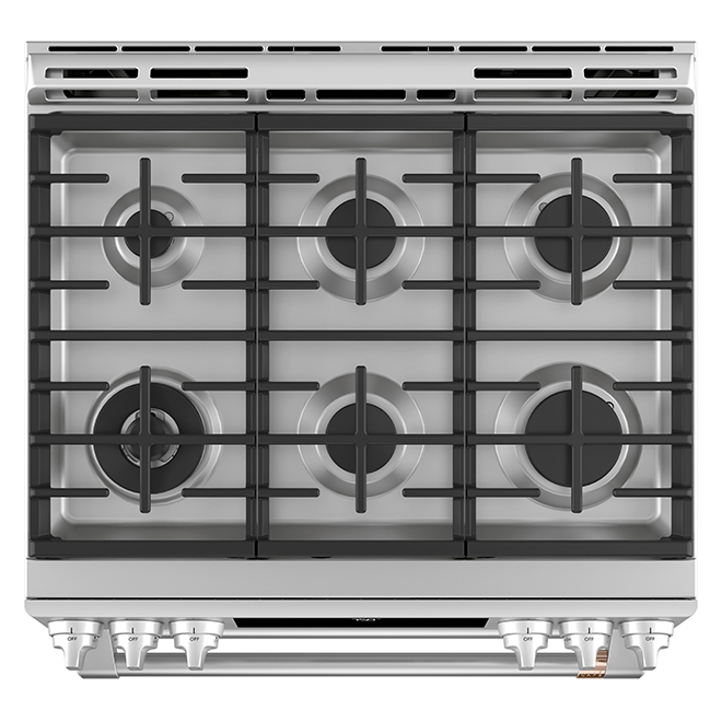 "Café(TM) Smart Gas Range - Double Oven - 30"" - Stainless Steel"