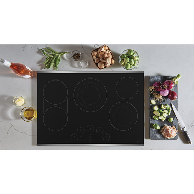 "GE Café(TM) Ceramic Glass Cooktop - 30"" - Stainless Steel"