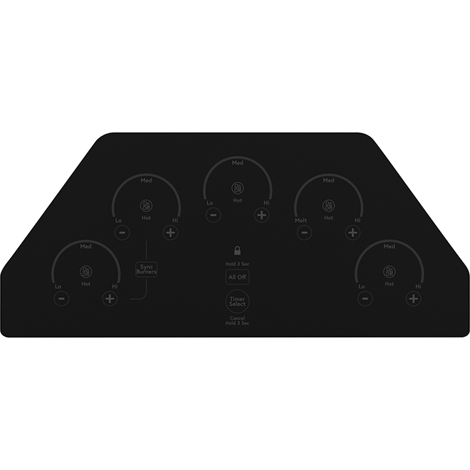"""GE Café(TM) Ceramic Glass Cooktop - 36"""" - Stainless Steel"""