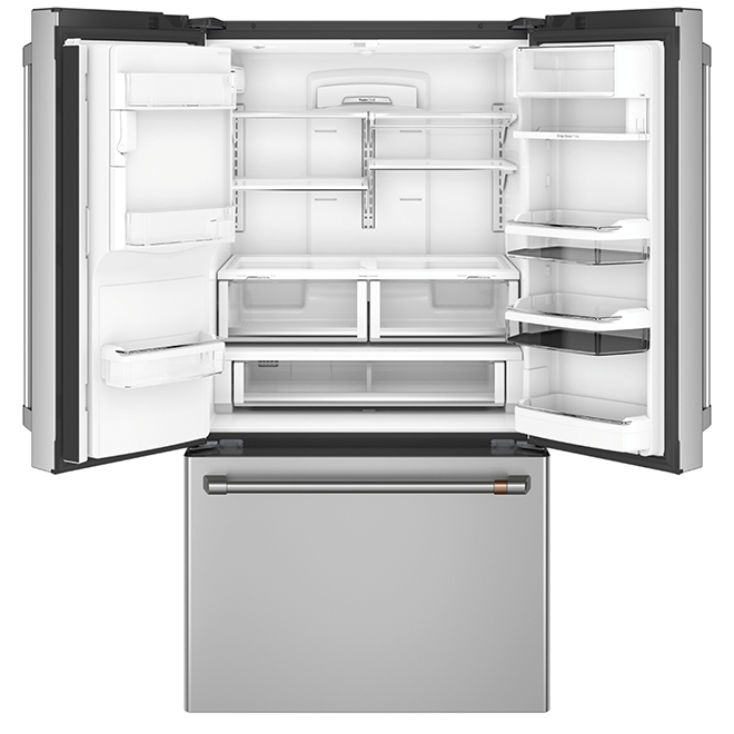 GE Café(TM) French-Door Refrigerator- 27.8 cu. ft.- Steel