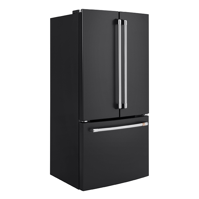 GE Café(TM) French-Door Refrigerator- 18.6 cu. ft.- Matte Black