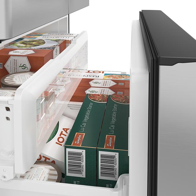 Réfrigérateur à profondeur comptoir avec Wi-Fi, 22,2 pi³, inox