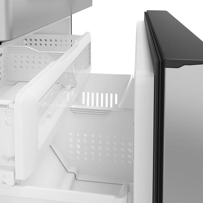 Réfrigérateur avec système Keurig, 22,2 pi³, inox