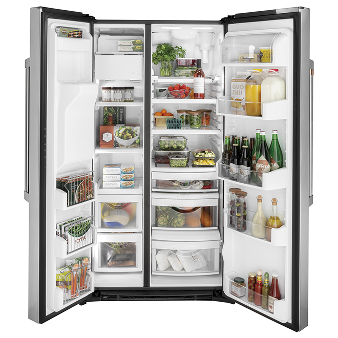 GE Café Side-by-Side Refrigerator - 21.9 cu. ft. - Stainless