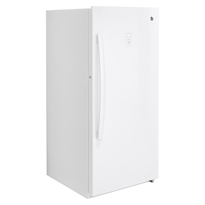 Congélateur vertical GE, 28 po, 14,1 pi³, blanc