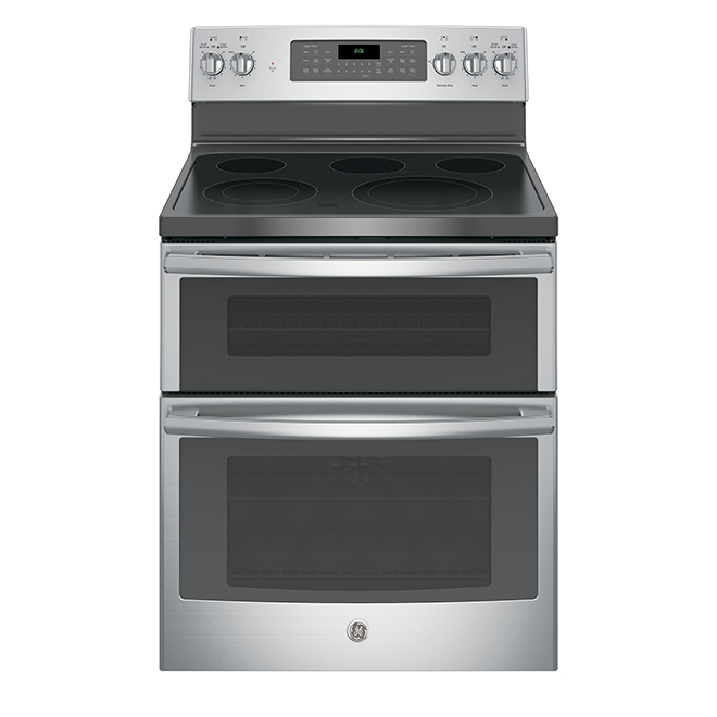 Electric Convection Double-Oven Range- 6.6 cu. ft.- Stainless