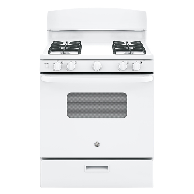 """Cuisinière au gaz avec tiroir-gril, 30"""", 4,8 pi³, blanc"""