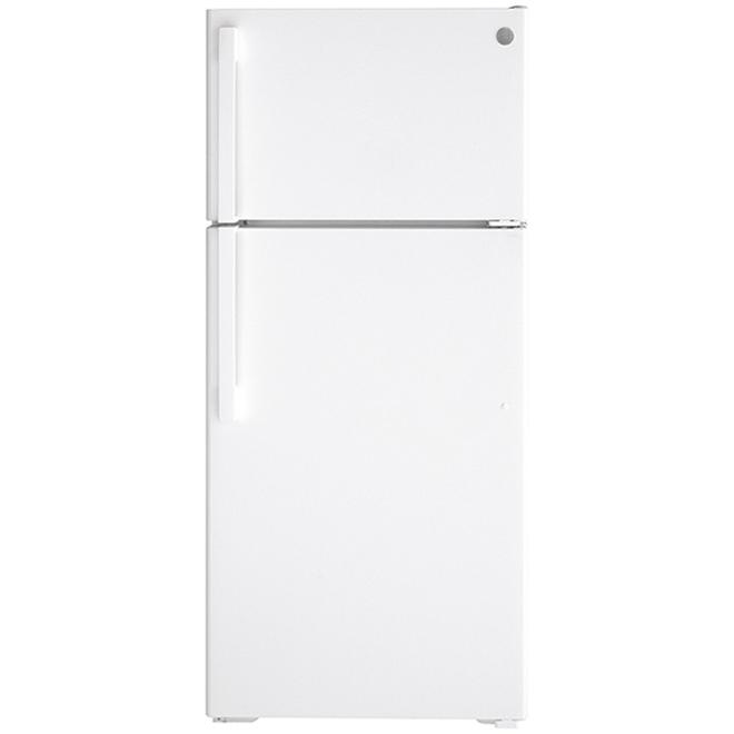GE Top Freezer Refrigerator - 28-in - 16.6-cu ft - White