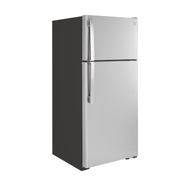 Top Freezer Refrigerator - 16.6 cu. ft. - Stainless Steel