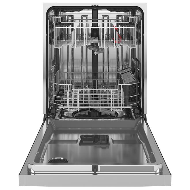 """Lave-vaisselle encastré, GE, métal, 34"""", acier inoxydable"""