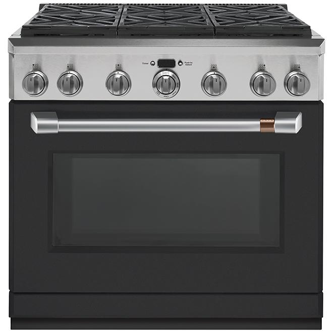 Coup de pied pour cuisinière, Café, métal, 36'', noir mat