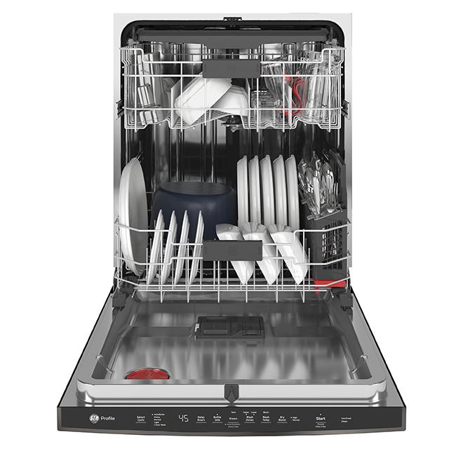 """Lave-vaisselle encastré, GE Profile, 34"""", inoxydable noir"""