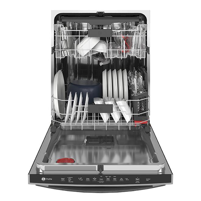 Lave-vaisselle encastré, GE Profile, métal, 34'', ardoise