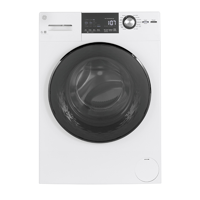 "GE Appliances Front-Load Washer - 24"" - 2.8 cu. ft. - White"