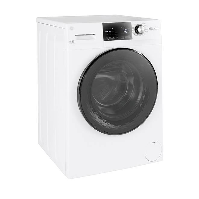 """Laveuse à chargement frontal GE Appliances, 24"""", 2,8 pi³, blanc"""