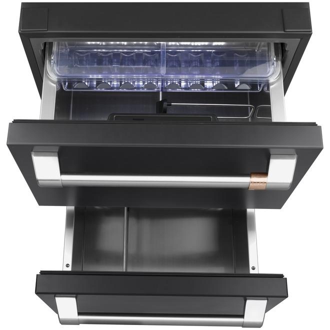 Built-In Refrigerator - Dual Drawer - 5.7 cu. ft - Matte Black