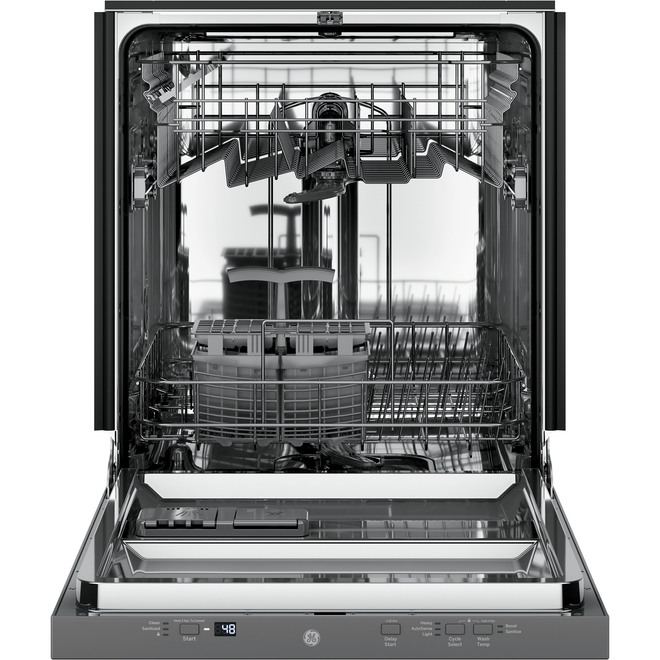 """GE Built-In Dishwasher - 51 dBA - 24"""" - Stainless Steel"""
