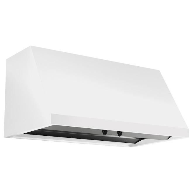 Hotte de cuisinière GE Café(MD) de 30 po, 590 PCM, blanc mat