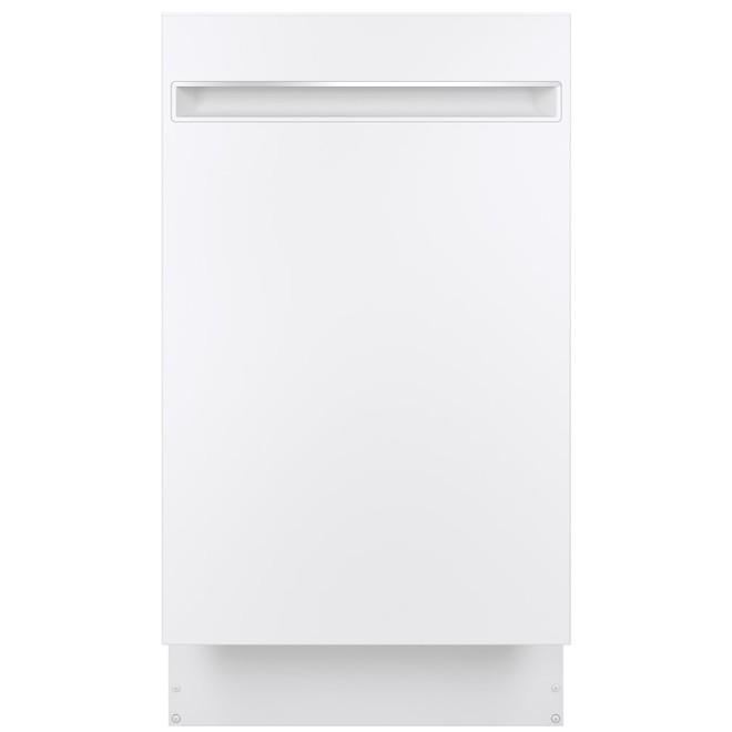 Lave-vaisselle encastré GE Profile avec broyeur Piranha, 18 po, blanc