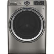 Laveuse HE GE Appliances Energy Star avec système de ventilation UltraFresh et vapeur, 5,5 pi³, nickel satiné