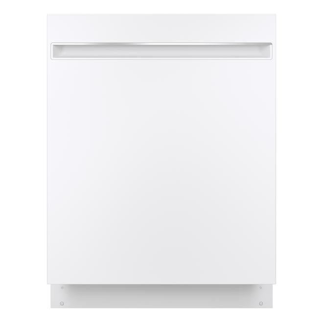 Lave-vaisselle GE encastrable de 24 po 51 dB, cuve en acier inoxydable, blanc