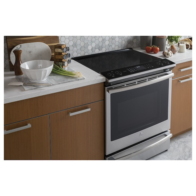 GE Profile Self-Clean Induction Range with 5 Elements - 5.3 cu. ft. - Stainless Steel
