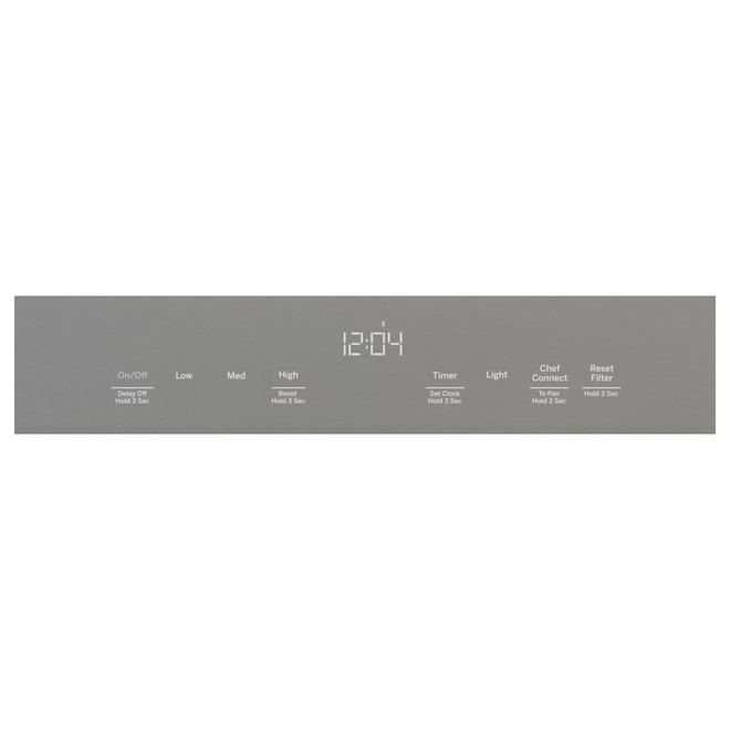 Hotte de cuisine murale de 36 po à 4 vitesses 610 pcm WiFi activé GE, inox