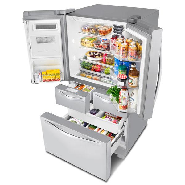 """French Door Refrigerator - 36"""" - 26 cu. ft. - Steel"""