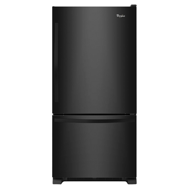 "Bottom-Freezer Refrigerator - 30"" - 19 cu. ft. - Black"