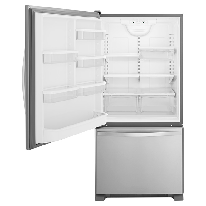 "Bottom-Freezer Refrigerator 30"" Left - 19 cu. ft. - Steel"