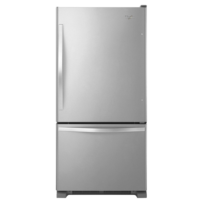 "Bottom-Freezer Refrigerator 30"" Right - 19 cu. ft. - Steel"