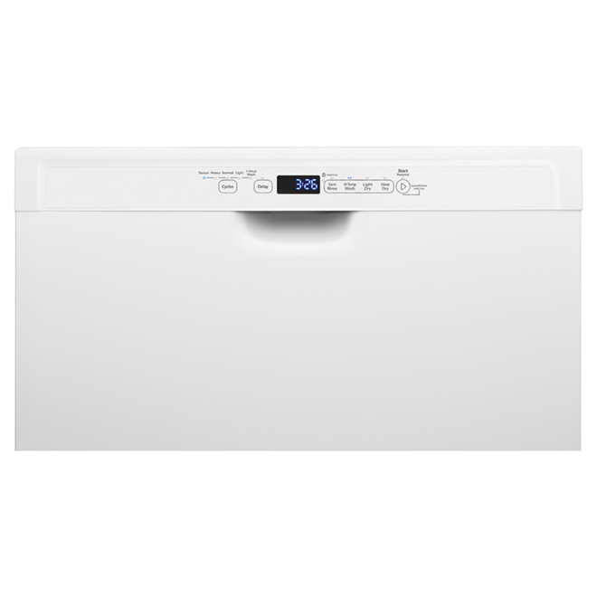 Whirlpool Built-in Steel Tub Dishwasher - 24-in - White