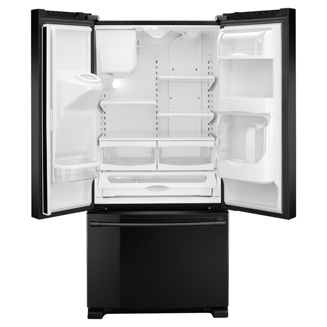"French Doors Refrigerator - 33"" - 21.7 cu. ft. - Black"