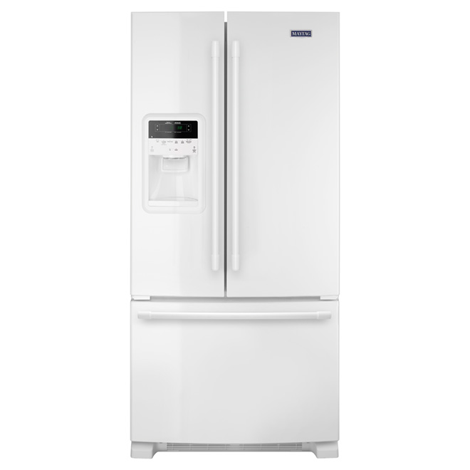 """French Doors Refrigerator - 33"""" - 21.7 cu. ft. - White"""