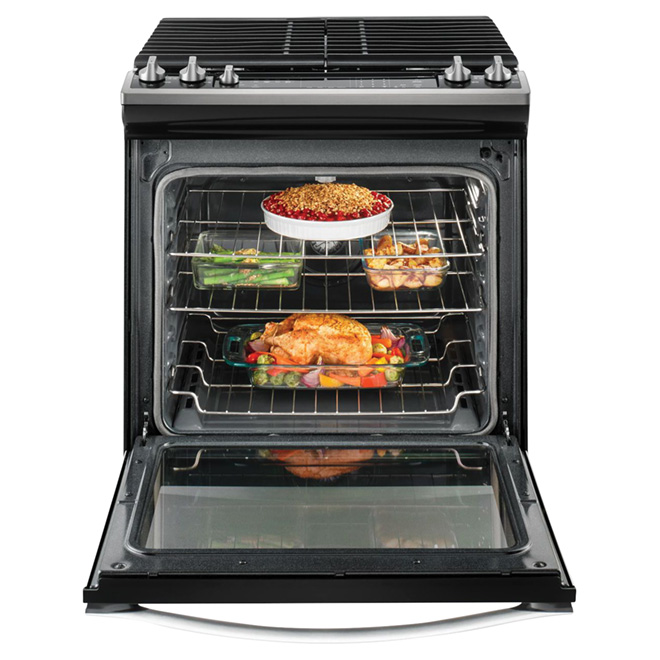 Cuisinière au gaz encastrable, 5,8 pi³, inox