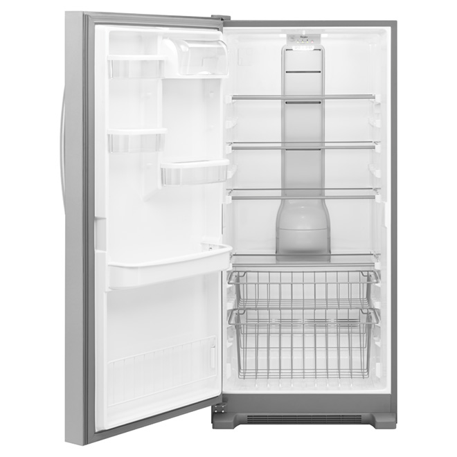 Freezer with Fast Freeze Option- 18 cu. ft.-Stainless Steel