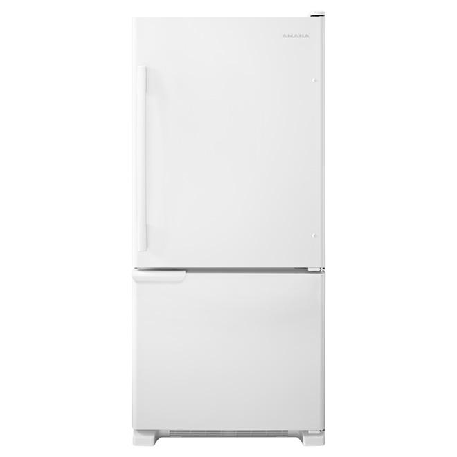 """Réfrigérateur à congélateur inférieur 30"""", 18,7 pi³, blanc"""