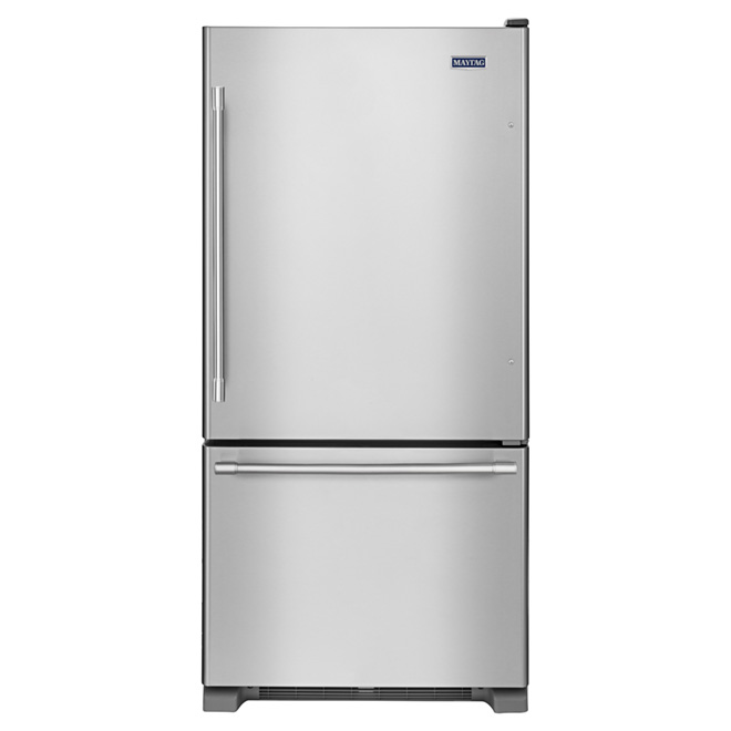 "Bottom-Freezer Refrigerator 33""- 22 cu. ft.- Stainless Steel"