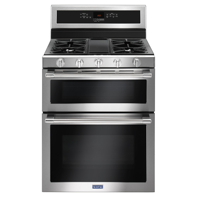 Freestanding Gas Range - Double Oven - Stainless Steel