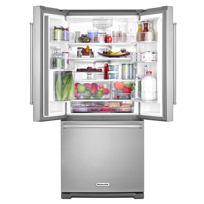 KitchenAid French-Door Refrigerator - 30-in - 20 cu. ft. - Stainless Steel