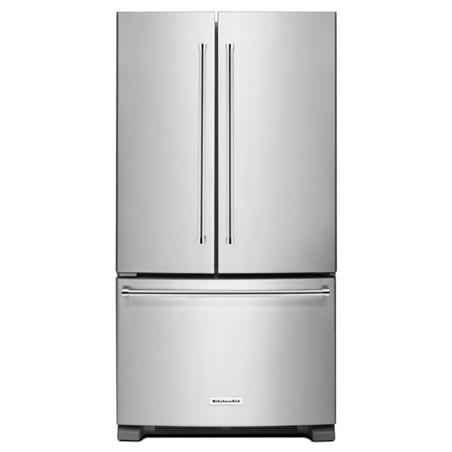 "French-Door Refrigerator -33"" - 22 cu. ft.-Stainless Steel"