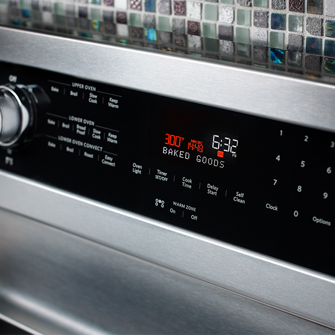 """Electric Double Oven Convection Range-30"""" -Stainless Steel"""
