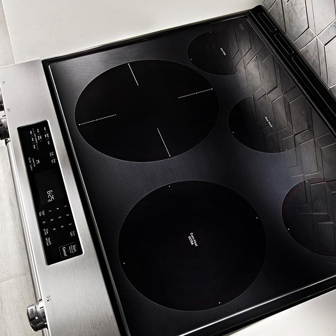 Cuisinière électrique avec Even-Heat(MC), 30'', 6.4 pi³, inox