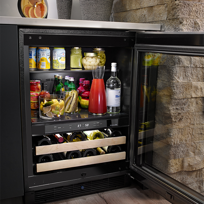 KitchenAid Compact Refrigerator 4.8 cu.ft - Stainless Steel