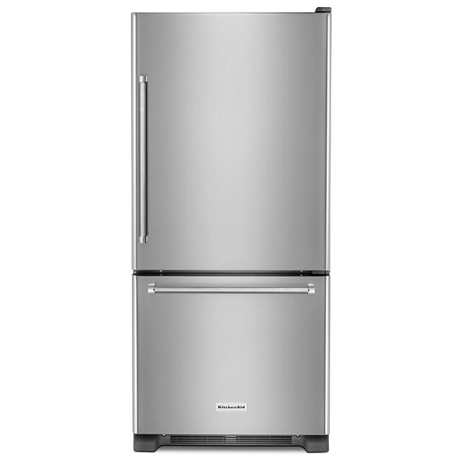 """Bottom Freezer Refrigerator - 30"""" - 18.7 cu. ft. - SS"""