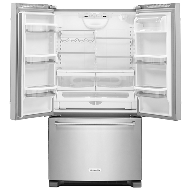 """French-Door Refrigerator - 36"""" - 20 cu. ft. - Stainless Steel"""
