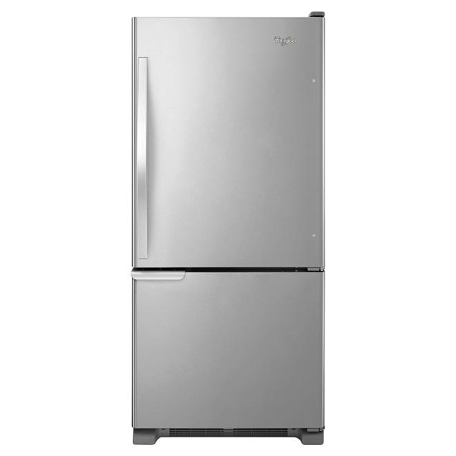 "Bottom-Freezer Refrigerator - 30"" - 19 ft³ - Stainless Steel"