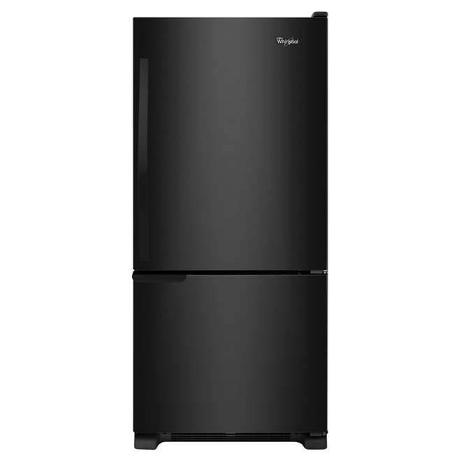"Bottom-Freezer Refrigerator - 30"" - 19 ft³ - Black"