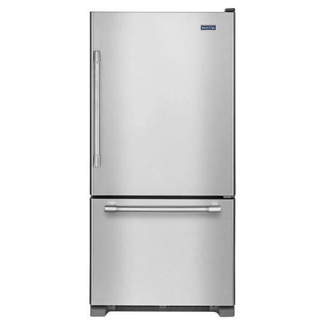 "Bottom-Freezer Refrigerator -30"" - 18.7 ft³ -Stainless Steel"